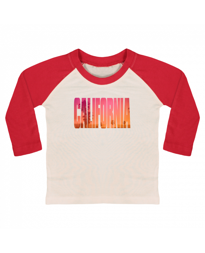 T-shirt baby Baseball long sleeve California by justsayin