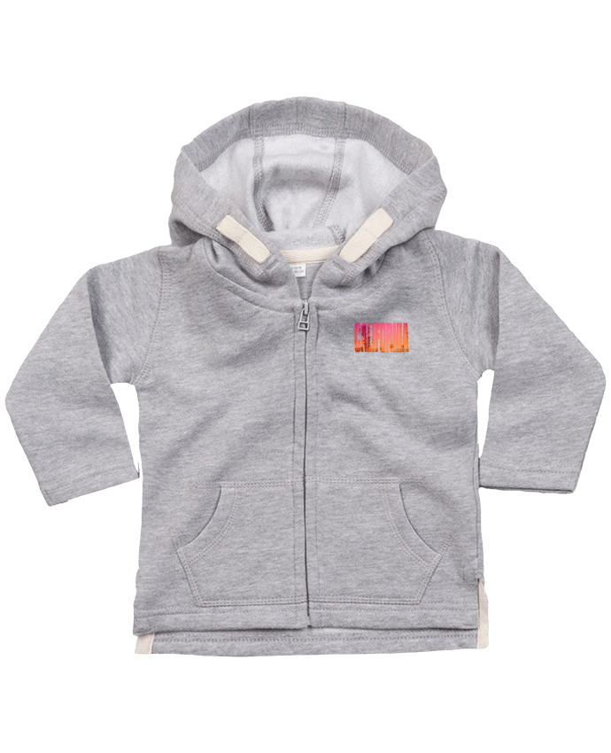 Hoddie with zip for baby California by justsayin