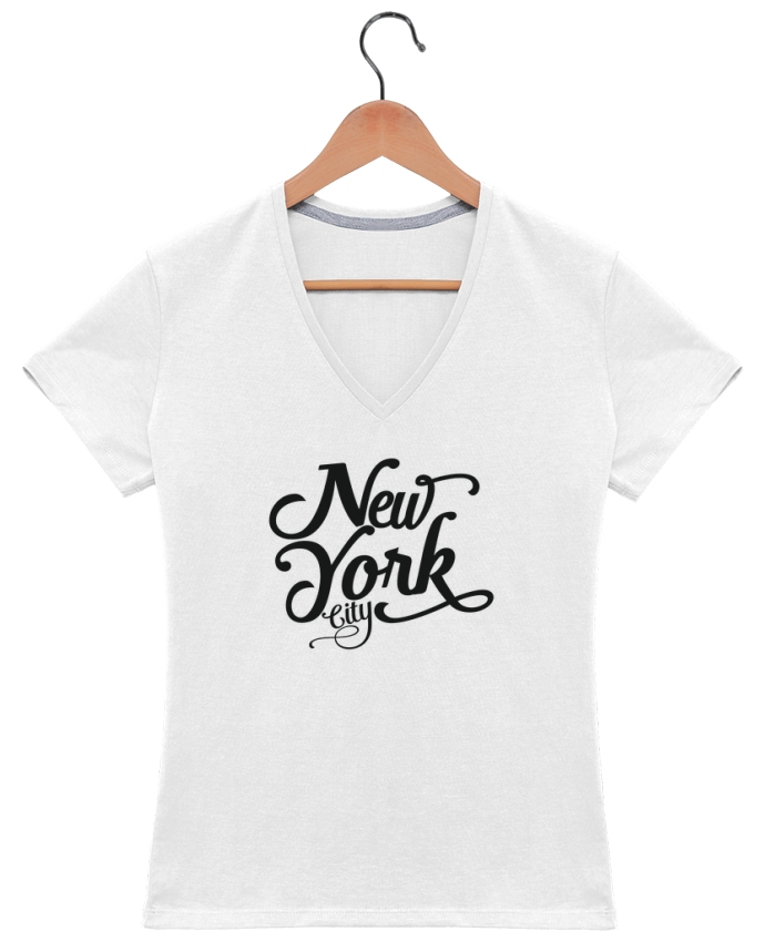 T-Shirt V-Neck Women New York City by justsayin