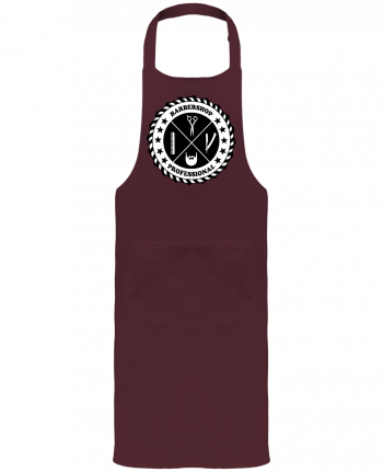 Garden or Sommelier Apron with Pocket BARBERSHOP BLASON by SG LXXXIII
