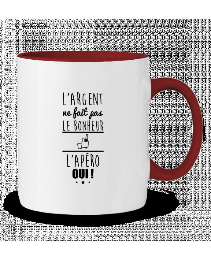 Two-tone Ceramic Mug L'argent ne fait pas le bonheur l'apéro oui ! Benichan