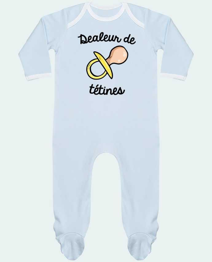 Baby Sleeper long sleeves Contrast Dealeur de tétines by FRENCHUP-MAYO