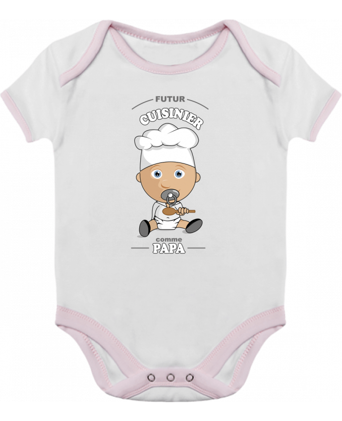 Baby Body Contrast Futur cuisinier comme papa by GraphiCK-Kids
