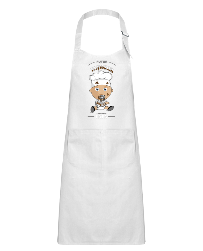 Kids chef pocket apron Futur pâtissier comme papa by GraphiCK-Kids