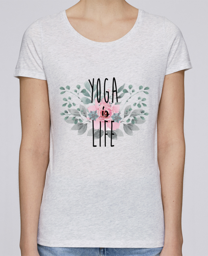 T-shirt Women Stella Loves Yoga is life by tunetoo