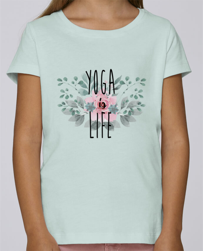T-shirt Women Stella Draws Yoga is life by tunetoo