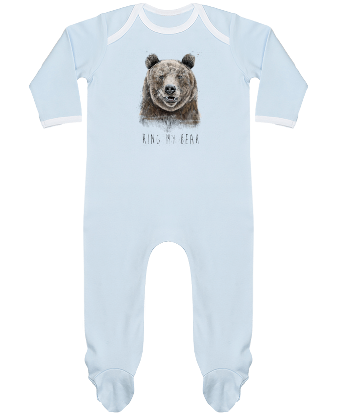 Baby Sleeper long sleeves Contrast Ring my bear by Balàzs Solti