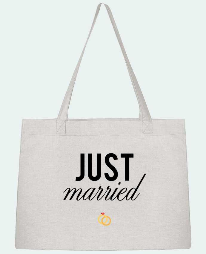 Shopping tote bag Stanley Stella Just married by tunetoo
