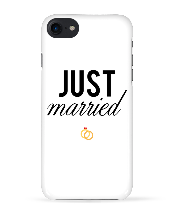 Case 3D iPhone 7 Just married de tunetoo