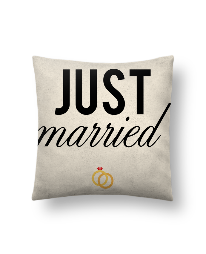 Cushion suede touch 45 x 45 cm Just married by tunetoo