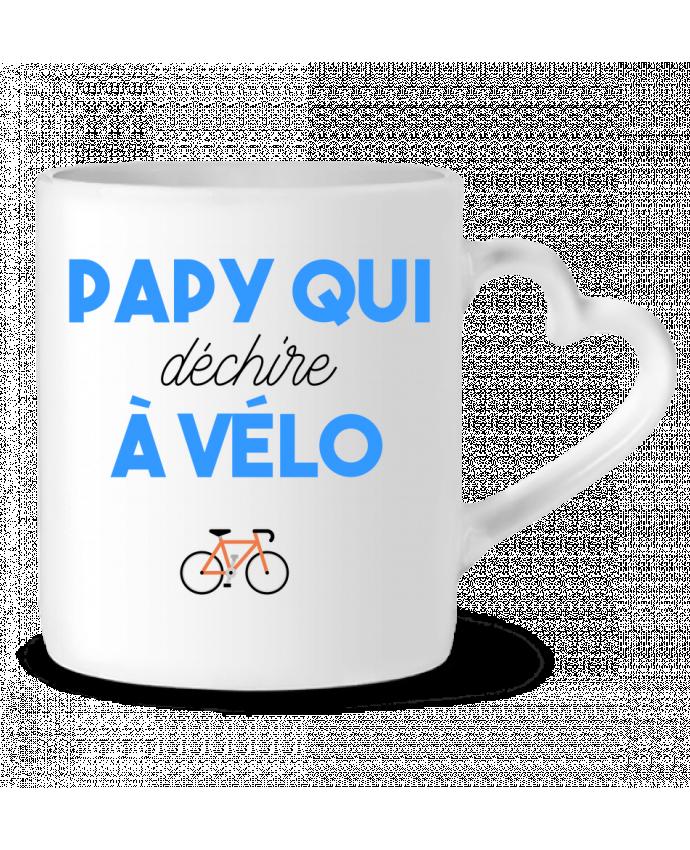Mug Heart Papy qui déchire à Vélo by tunetoo