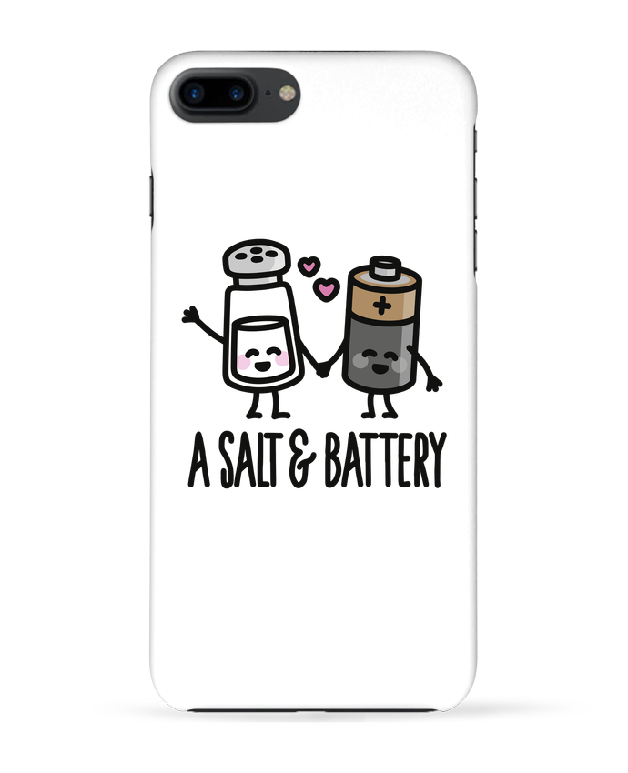 Case 3D iPhone 7+ A salt and battery by LaundryFactory
