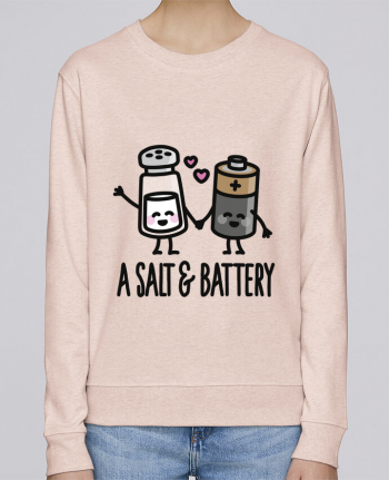 Sweatshirt Women crew neck Stella Hides A salt and battery by LaundryFactory