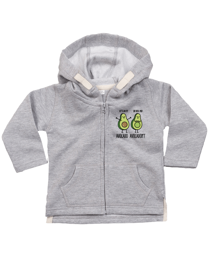 Hoddie with zip for baby Avocado avocadont by LaundryFactory