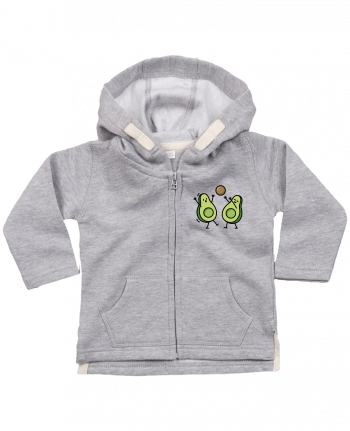 Hoddie with zip for baby Avocado handball by LaundryFactory