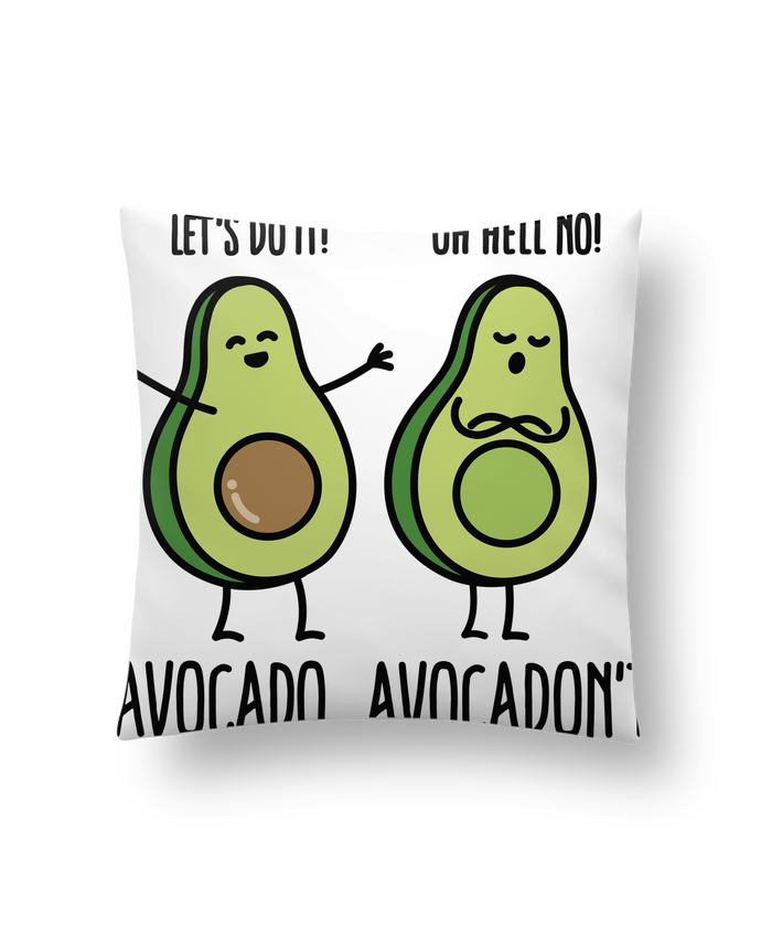 Cushion synthetic soft 45 x 45 cm Avocado avocadont by LaundryFactory