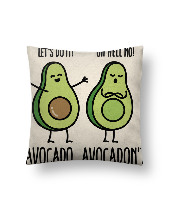 Cushion suede touch 45 x 45 cm Avocado avocadont by LaundryFactory