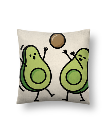 Cushion suede touch 45 x 45 cm Avocado handball by LaundryFactory