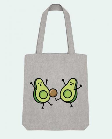 Tote Bag Stanley Stella Avocado soccer by LaundryFactory