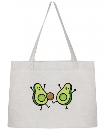 Shopping tote bag Stanley Stella Avocado soccer by LaundryFactory