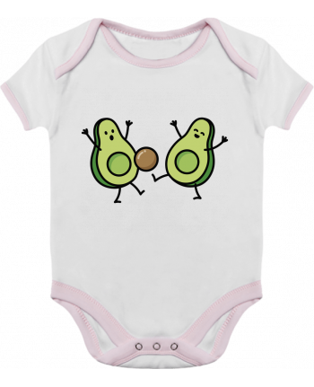 Baby Body Contrast Avocado soccer by LaundryFactory