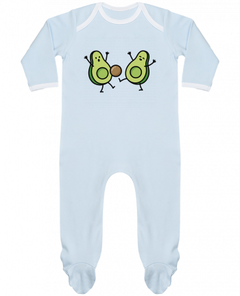 Baby Sleeper long sleeves Contrast Avocado soccer by LaundryFactory