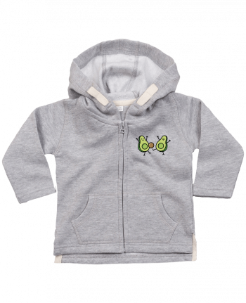 Hoddie with zip for baby Avocado soccer by LaundryFactory