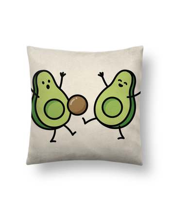Cushion suede touch 45 x 45 cm Avocado soccer by LaundryFactory