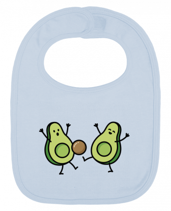 Baby Bib plain and contrast Avocado soccer by LaundryFactory