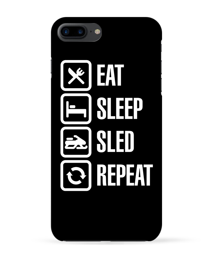 Case 3D iPhone 7+ Eat, sleep, sled, repeat by LaundryFactory