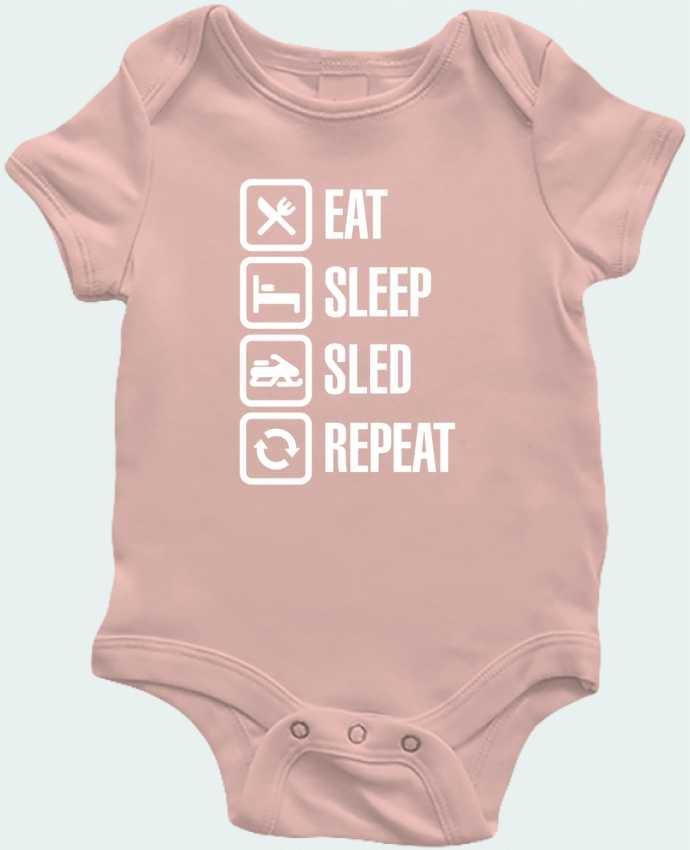 Baby Body Eat, sleep, sled, repeat by LaundryFactory