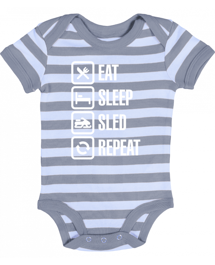 Baby Body striped Eat, sleep, sled, repeat - LaundryFactory