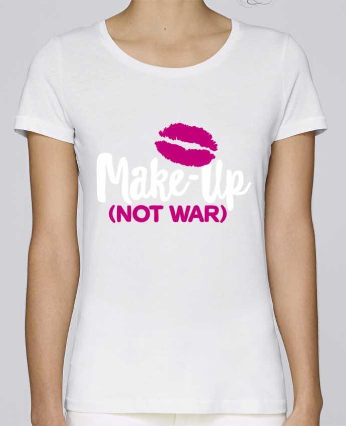 T-shirt Women Stella Loves Make up not war by LaundryFactory