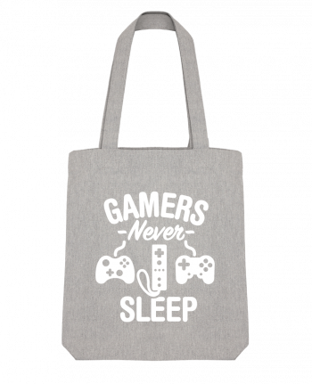 Tote Bag Stanley Stella Gamers never sleep by LaundryFactory