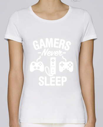 T-shirt Women Stella Loves Gamers never sleep by LaundryFactory