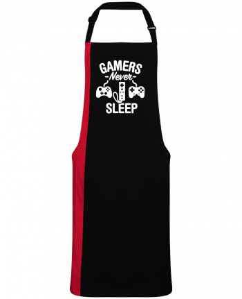 Two-tone long Apron Gamers never sleep by  LaundryFactory