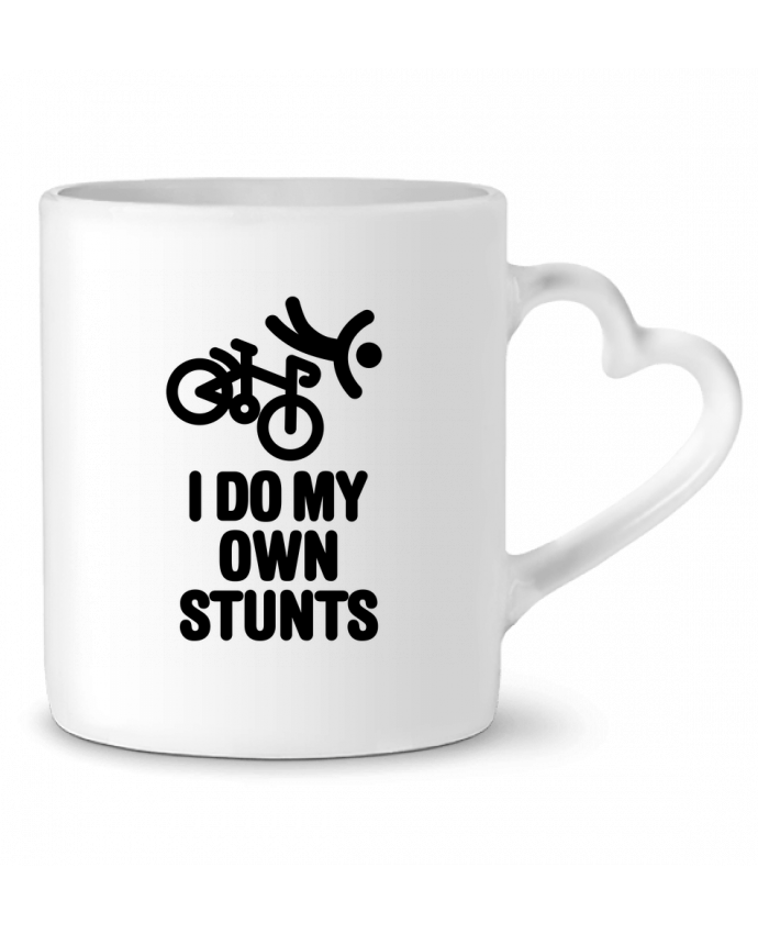 Mug Heart I do my own stunts by LaundryFactory