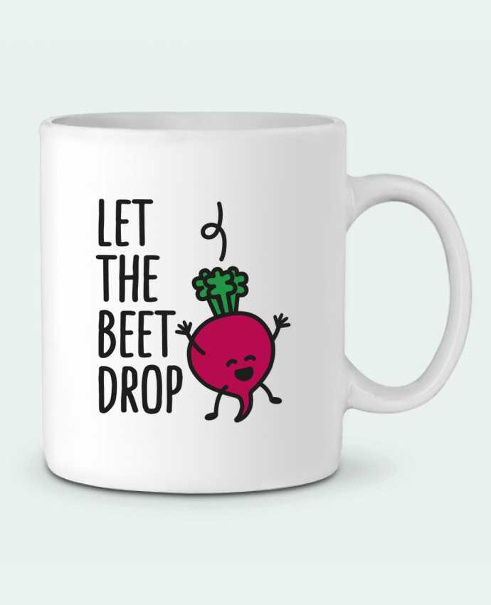 Ceramic Mug Let the beet drop by LaundryFactory