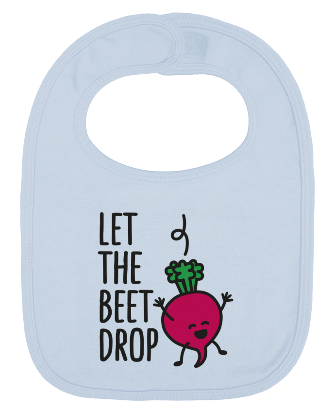 Baby Bib plain and contrast Let the beet drop by LaundryFactory