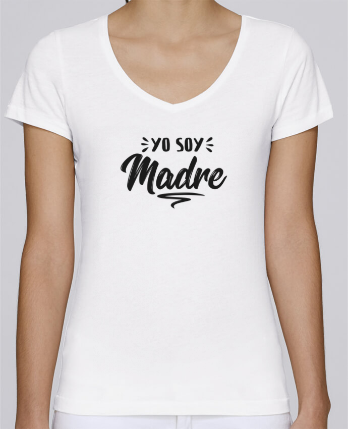 T-Shirt V-Neck Women Stella Chooses Soy madre by tunetoo