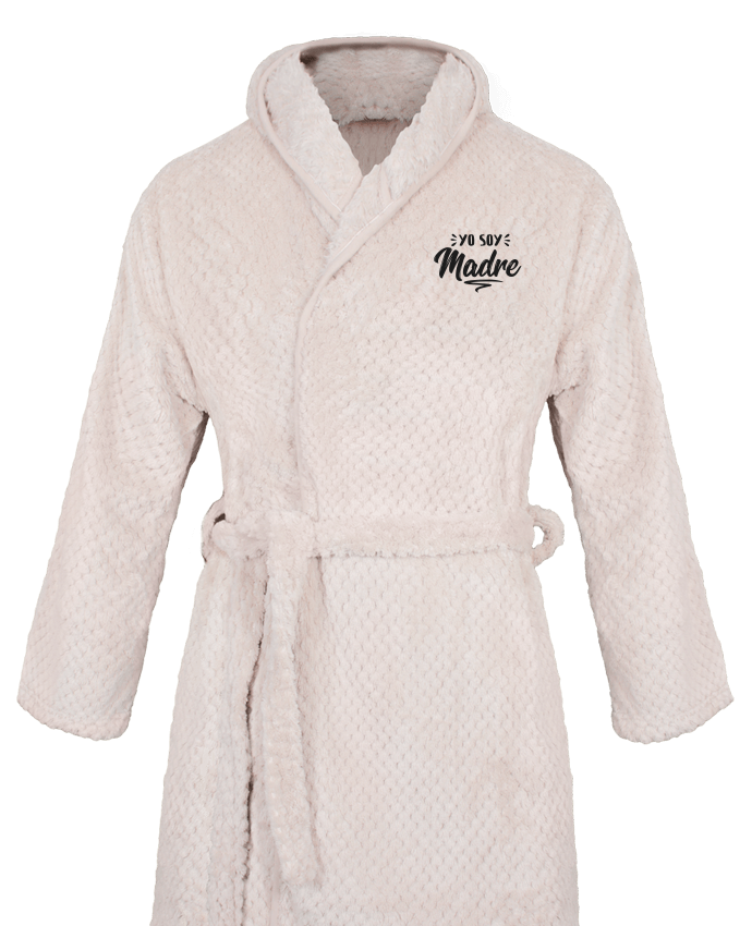 Bathrobe Women Soft Coral Fleece Soy madre by tunetoo