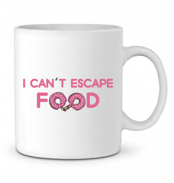 Ceramic Mug I can't escape food by tunetoo