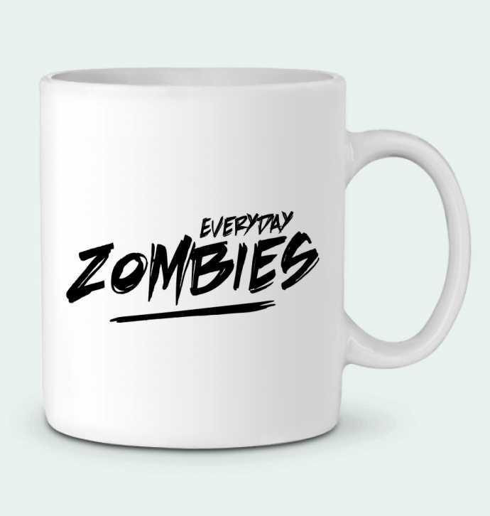 Ceramic Mug Everyday Zombies by tunetoo