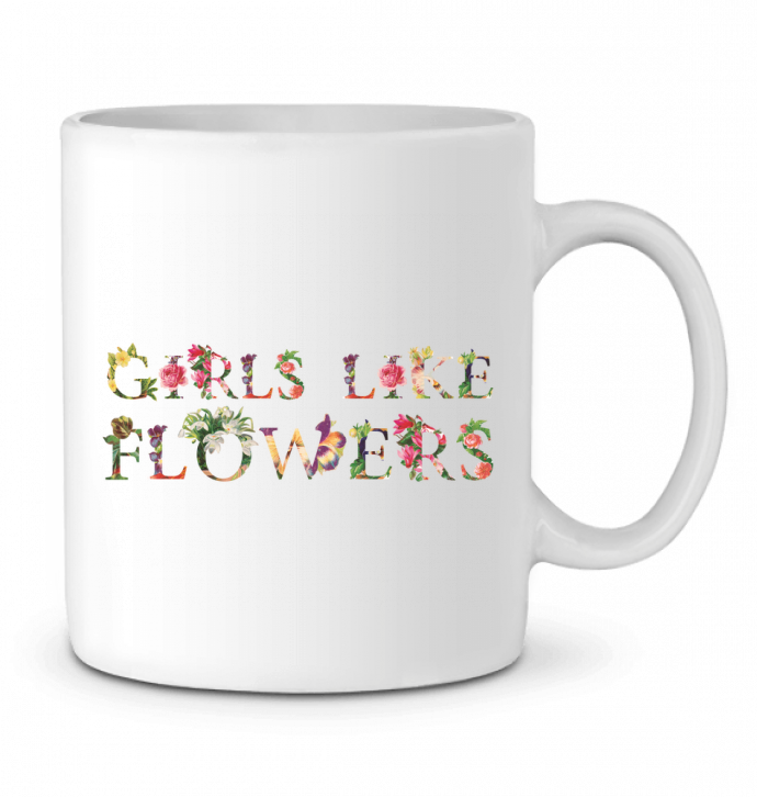 Ceramic Mug Girls like flowers by tunetoo