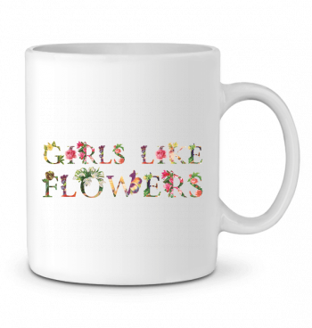 Ceramic Mug Girls like flowers by tunetoo