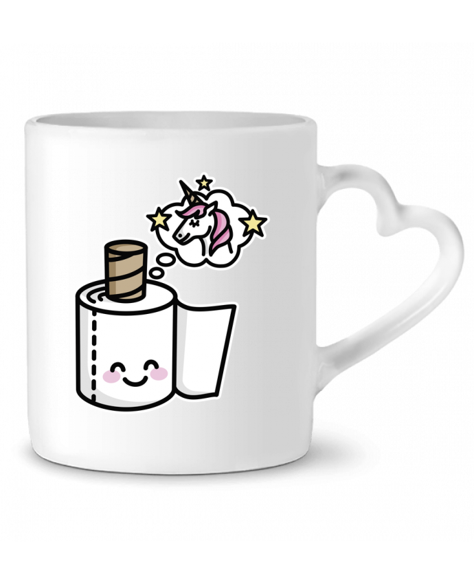 Mug Heart Unicorn Toilet Paper by LaundryFactory