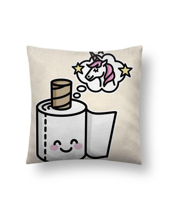 Cushion suede touch 45 x 45 cm Unicorn Toilet Paper by LaundryFactory
