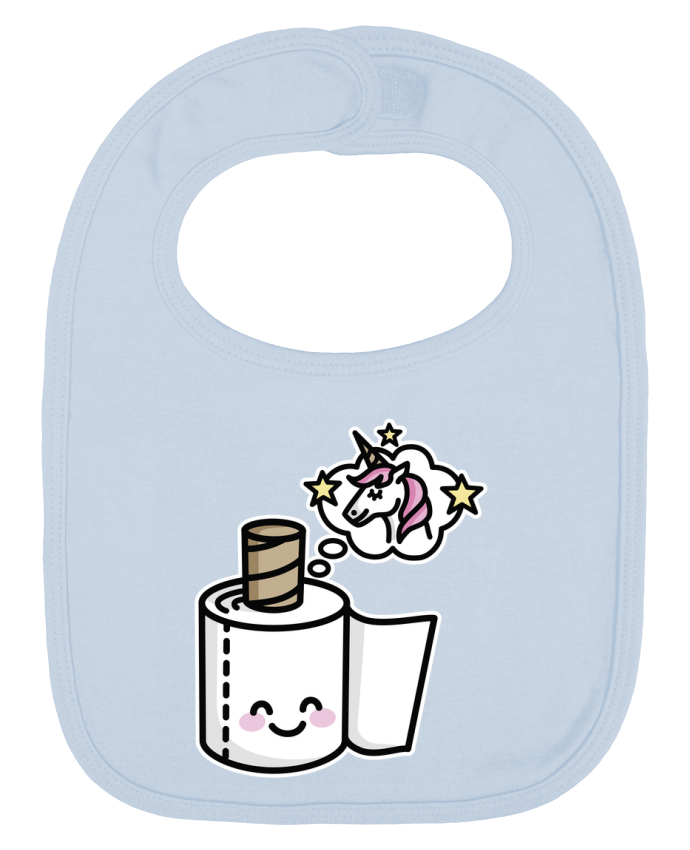 Baby Bib plain and contrast Unicorn Toilet Paper by LaundryFactory