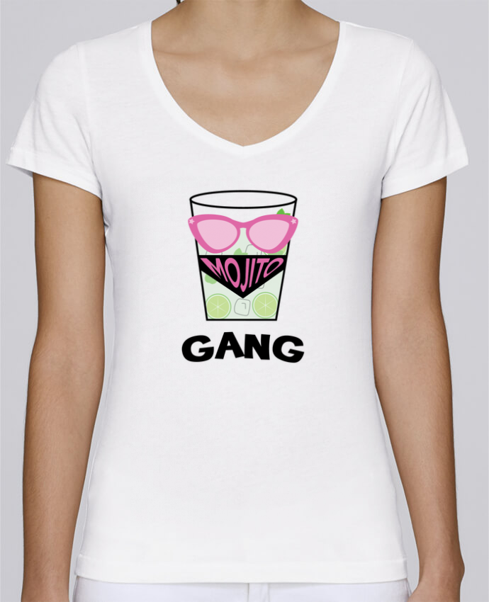T-Shirt V-Neck Women Stella Chooses Mojito Gang by tunetoo