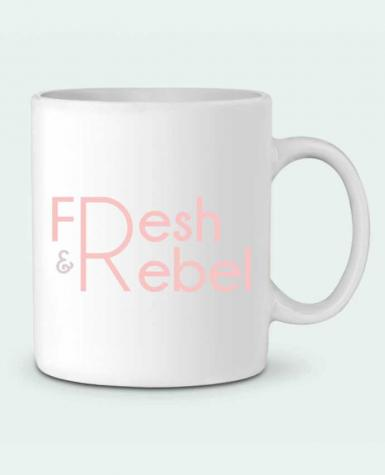 Ceramic Mug Fresh and Rebel by tunetoo
